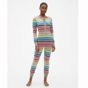 Gap Crazy Stripe Union Suit Long Johns Pajamas